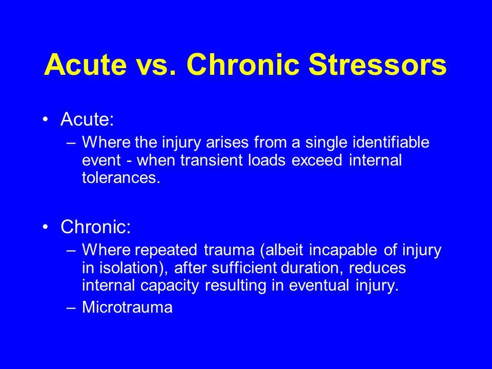 Acute vs. Chronic Stressors