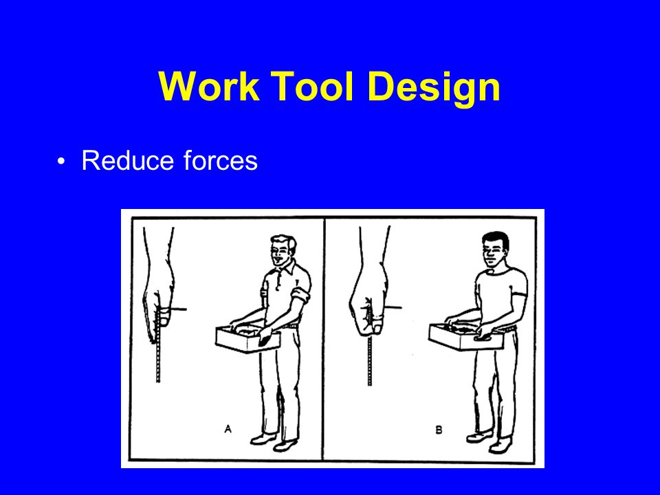 Work Tool Design Reduce forces