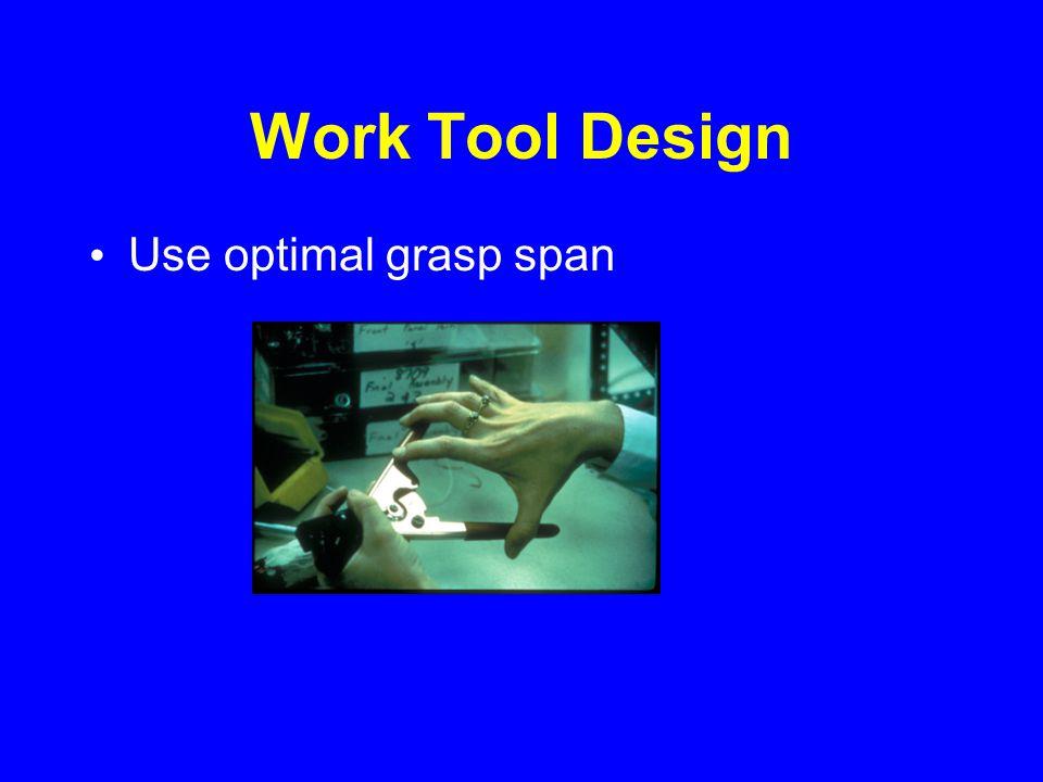 Work Tool Design Use optimal grasp span
