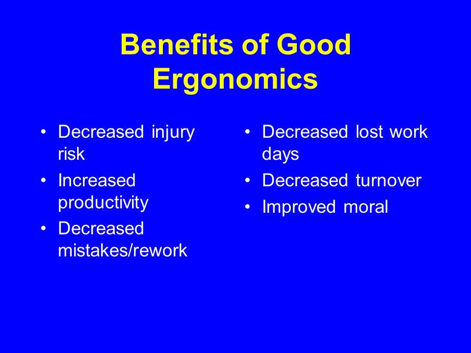 Benefits of Good Ergonomics