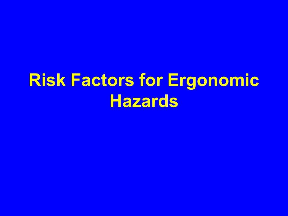 Risk Factors for Ergonomic Hazards