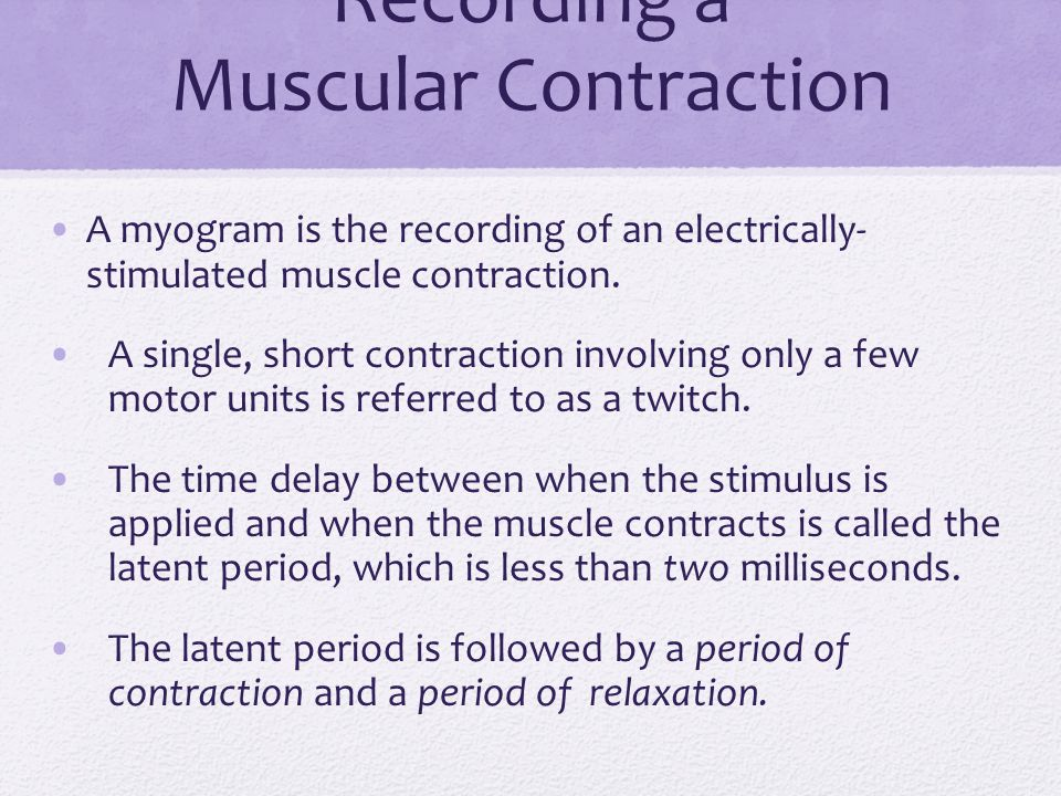 Recording a Muscular Contraction