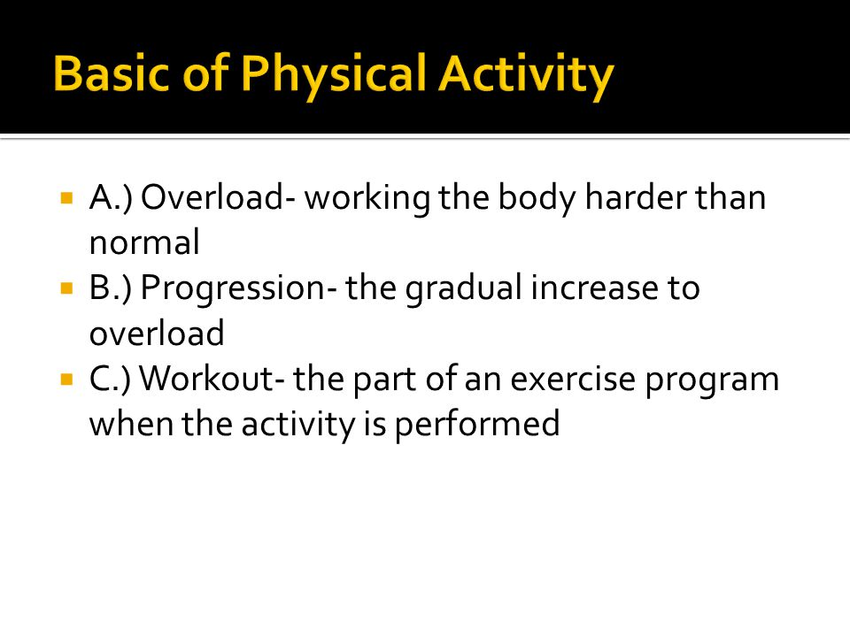 Basic of Physical Activity