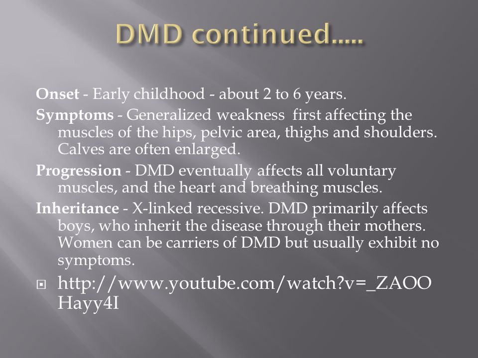 DMD continued..... http://www.youtube.com/watch v=_ZAOOHayy4I