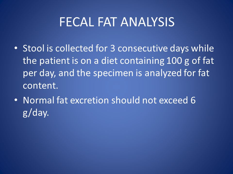 FECAL FAT ANALYSIS