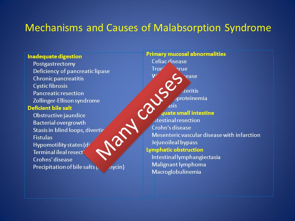 Mechanisms and Causes of Malabsorption Syndrome