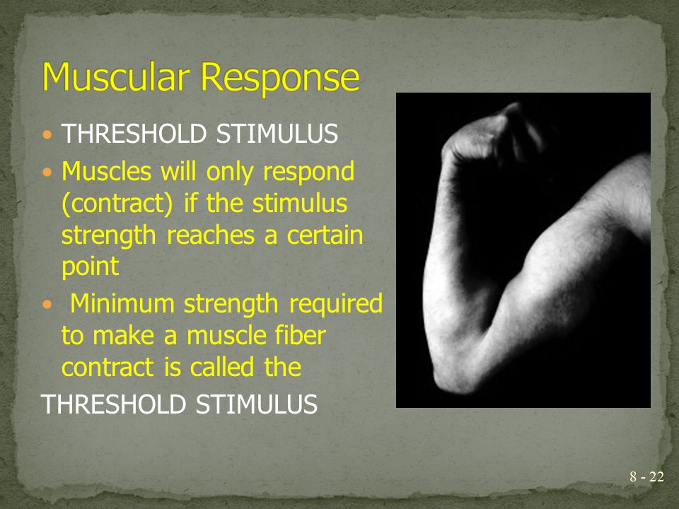 Muscular Response THRESHOLD STIMULUS