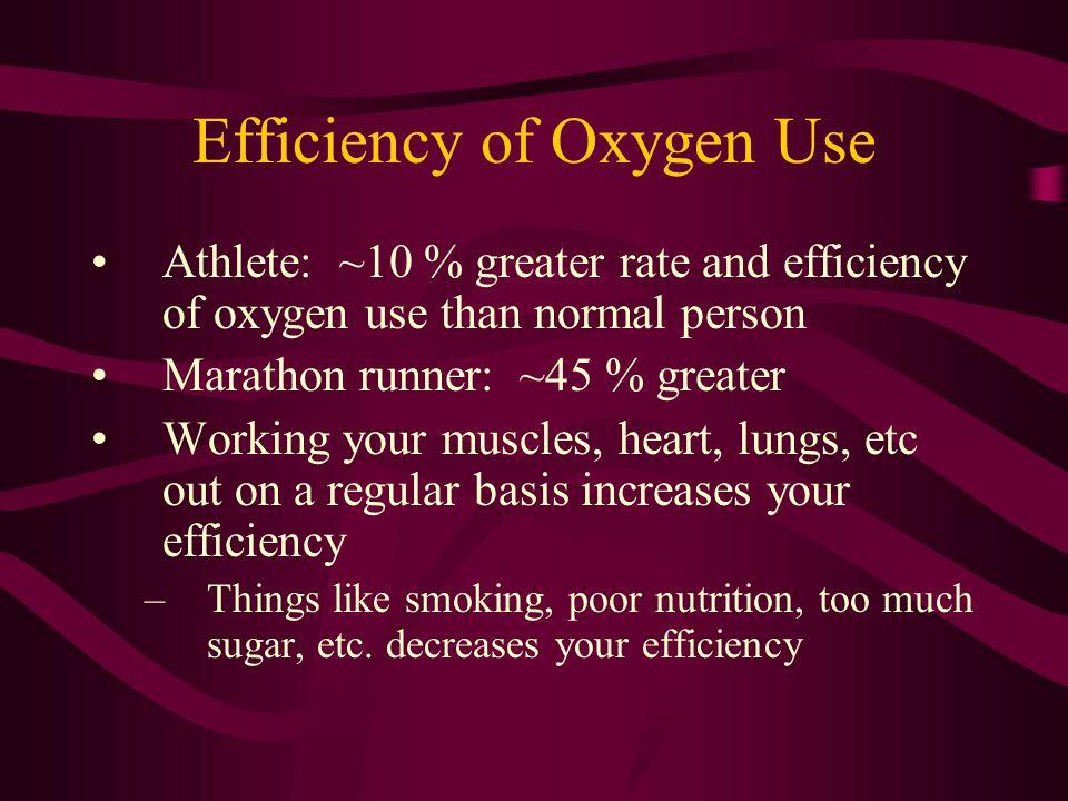 Efficiency of Oxygen Use