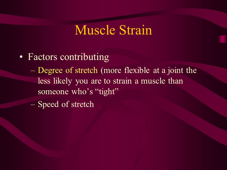 Muscle Strain Factors contributing
