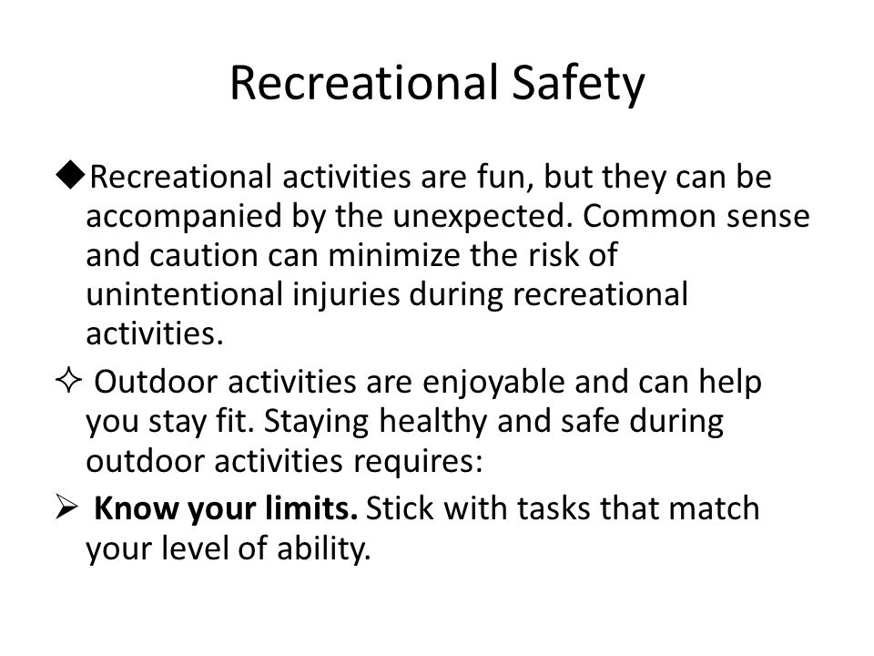 Recreational Safety