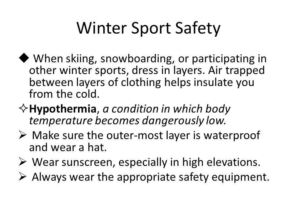 Winter Sport Safety