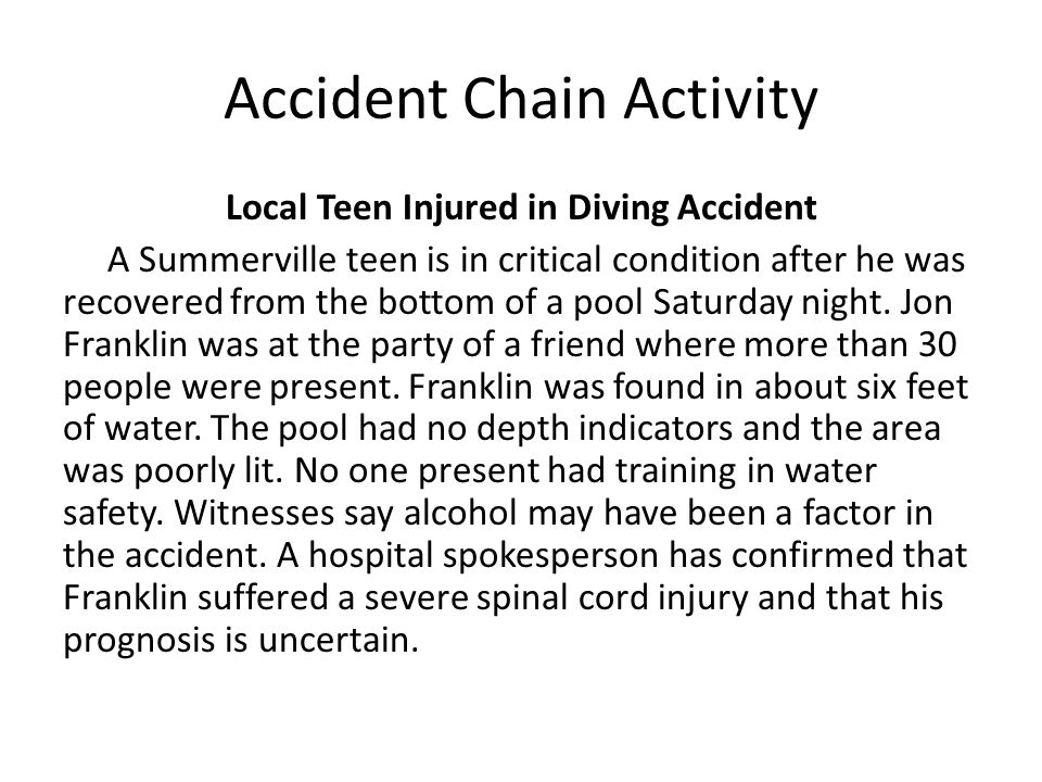 Accident Chain Activity