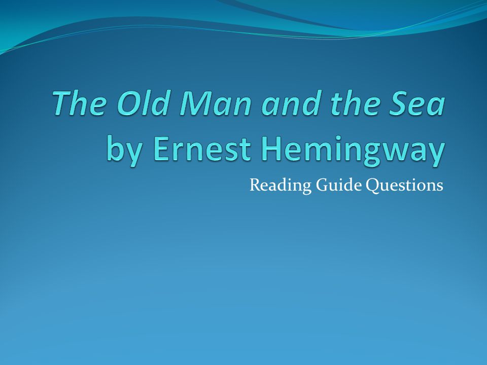 a summary of ernest hemingways the old man and the sea The old man and the sea is a short novel written by the american author ernest  hemingway in  joseph waldmeir's essay confiteor hominem: ernest  hemingway's religion of man is a favorable critical reading of the novel—and  one which.