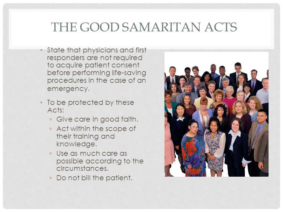 The Good Samaritan Acts
