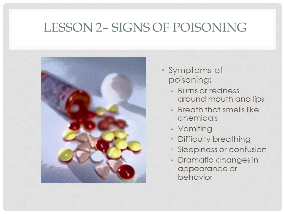 Lesson 2– Signs of Poisoning