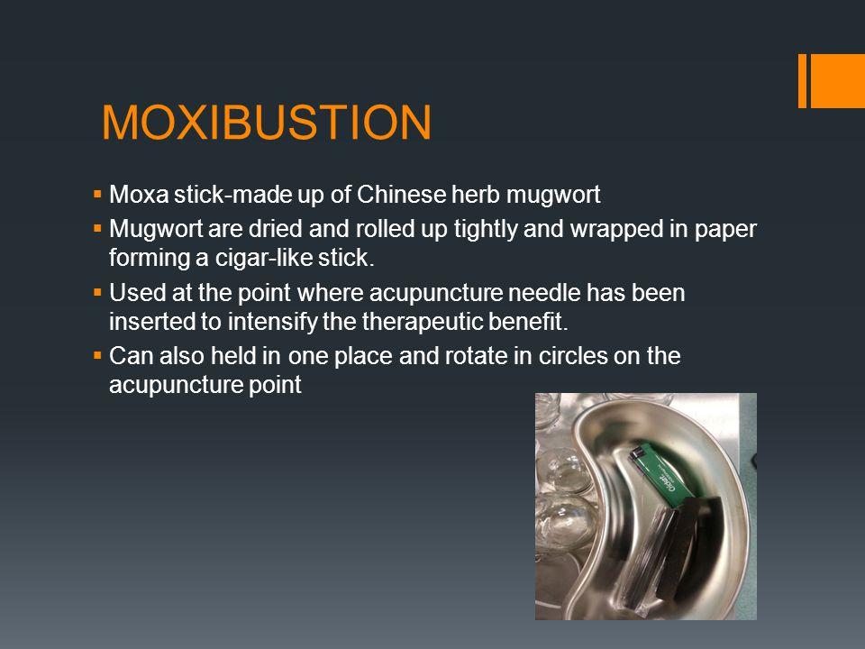 MOXIBUSTION Moxa stick-made up of Chinese herb mugwort