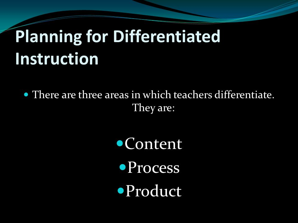 Planning for Differentiated Instruction