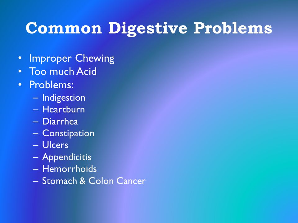 Common Digestive Problems