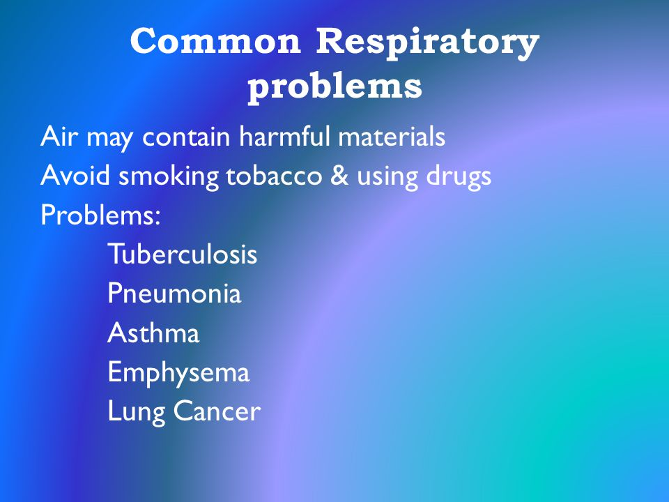 Common Respiratory problems
