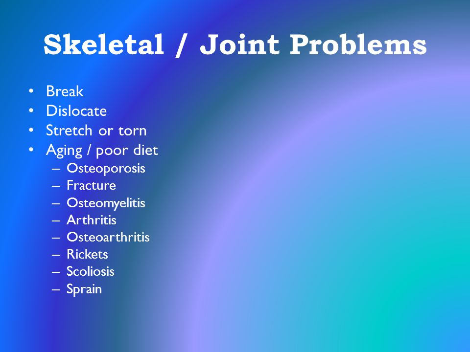 Skeletal / Joint Problems