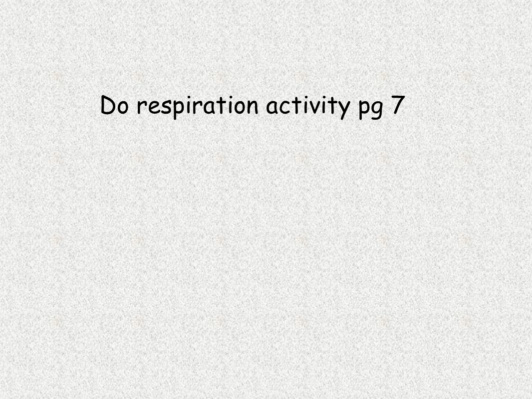 Do respiration activity pg 7