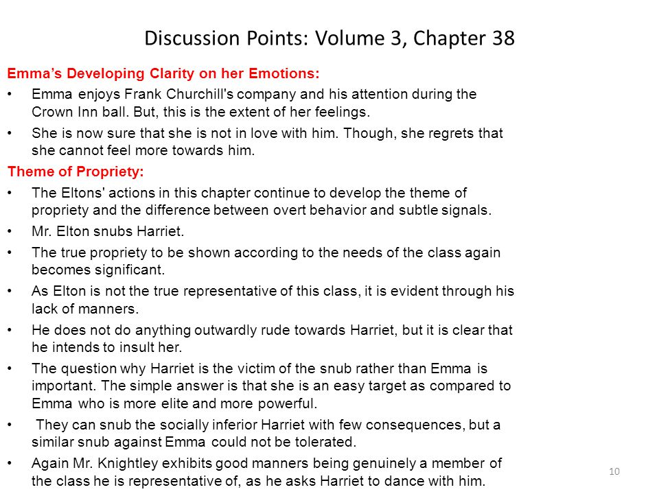 Discussion Points: Volume 3, Chapter 38