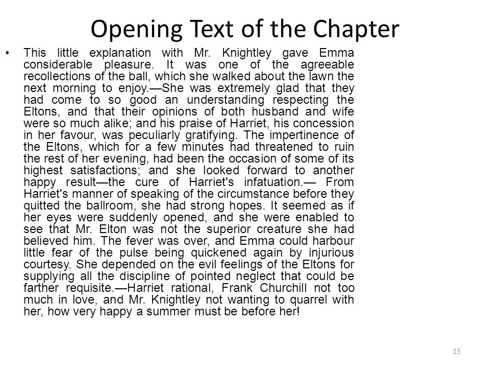 Opening Text of the Chapter