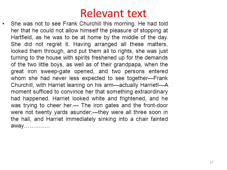 Relevant text