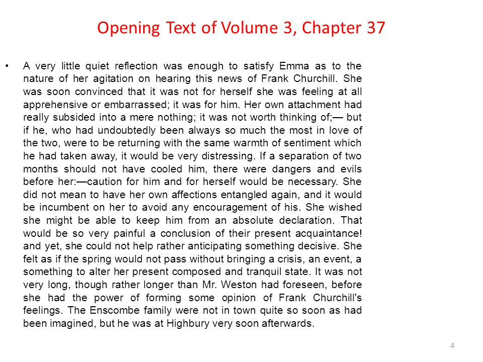 Opening Text of Volume 3, Chapter 37
