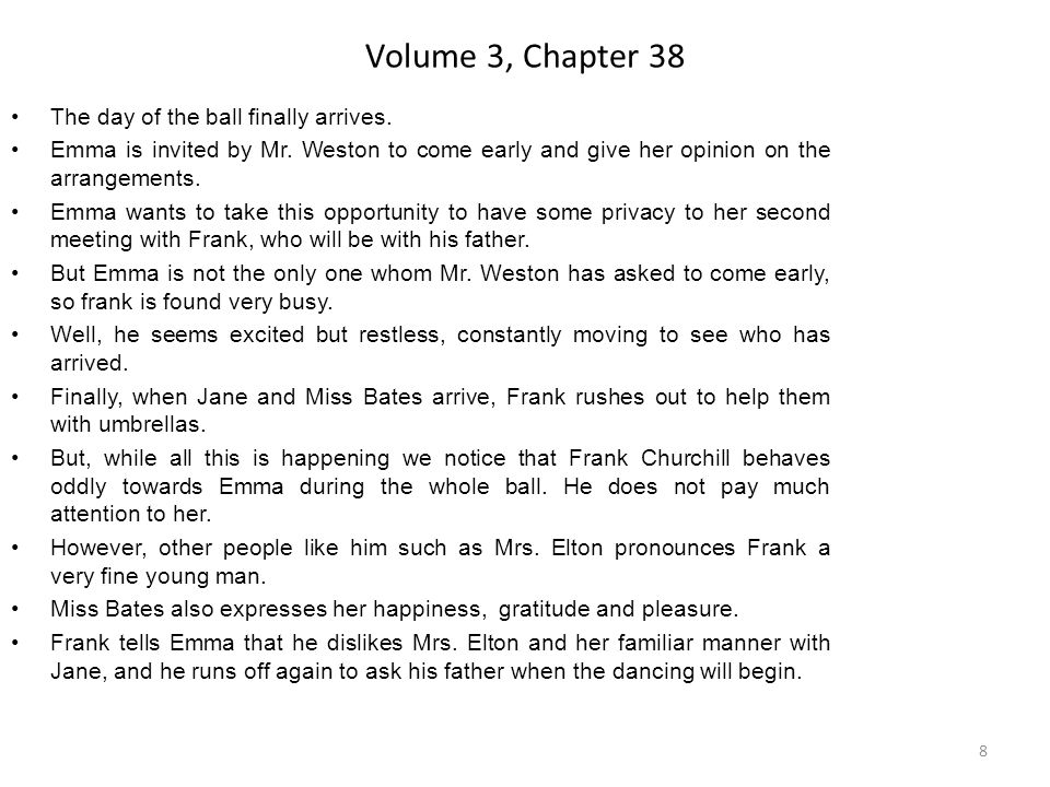 Volume 3, Chapter 38 The day of the ball finally arrives.