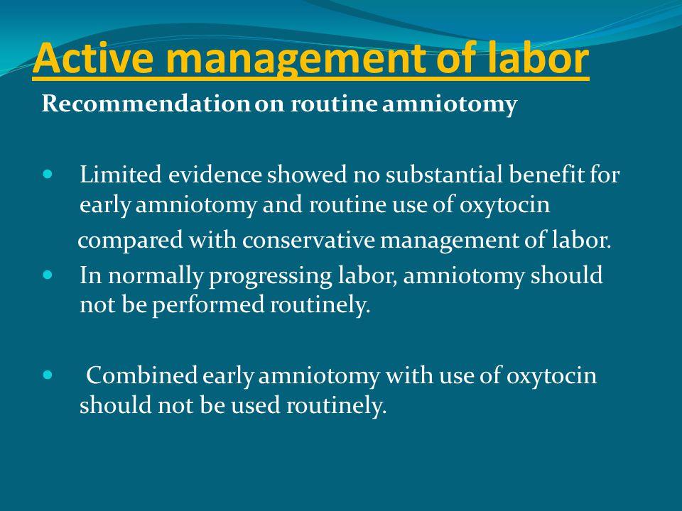 Active management of labor