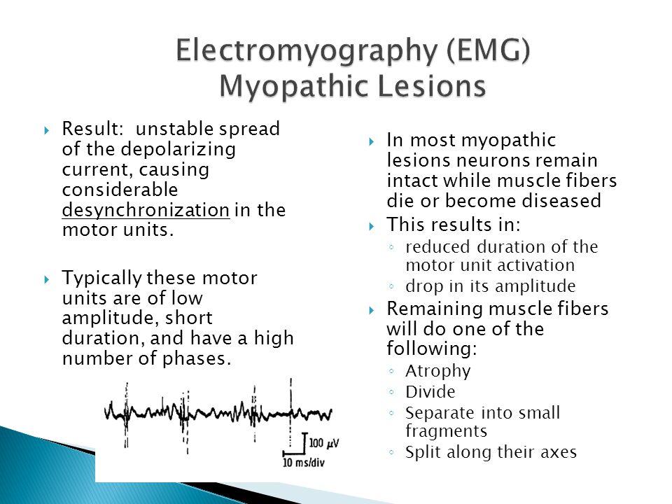 Electromyography (EMG) Myopathic Lesions