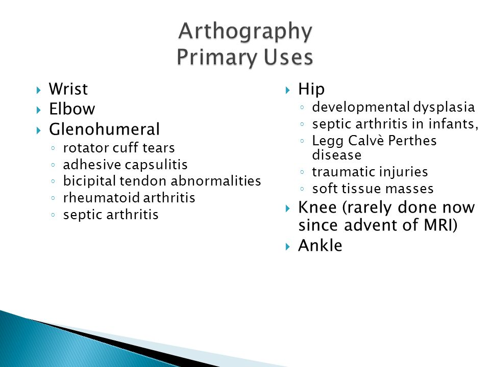 Arthography Primary Uses