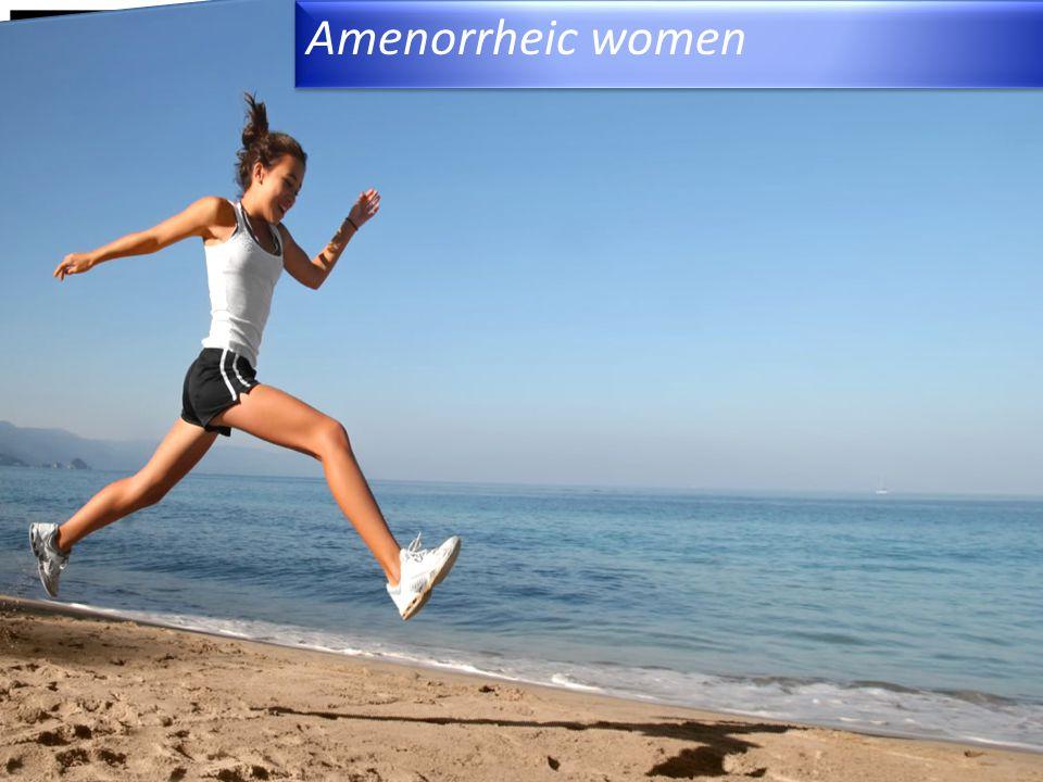 Amenorrheic women 4/15/2017