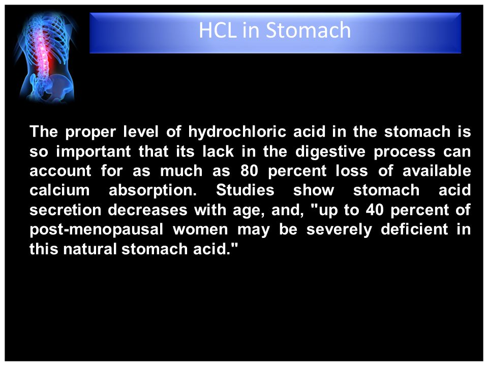 4/15/2017 HCL in Stomach.