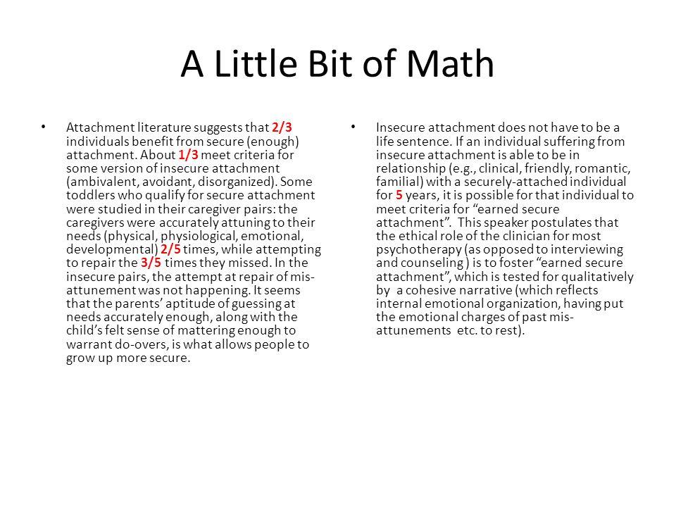 A Little Bit of Math