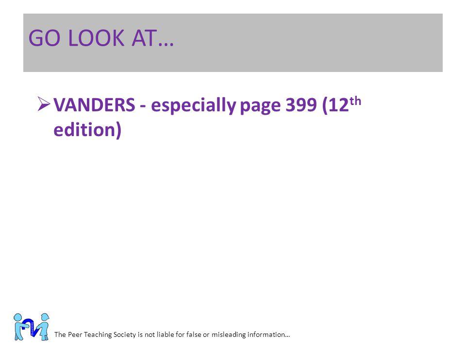 GO LOOK AT… VANDERS - especially page 399 (12th edition)