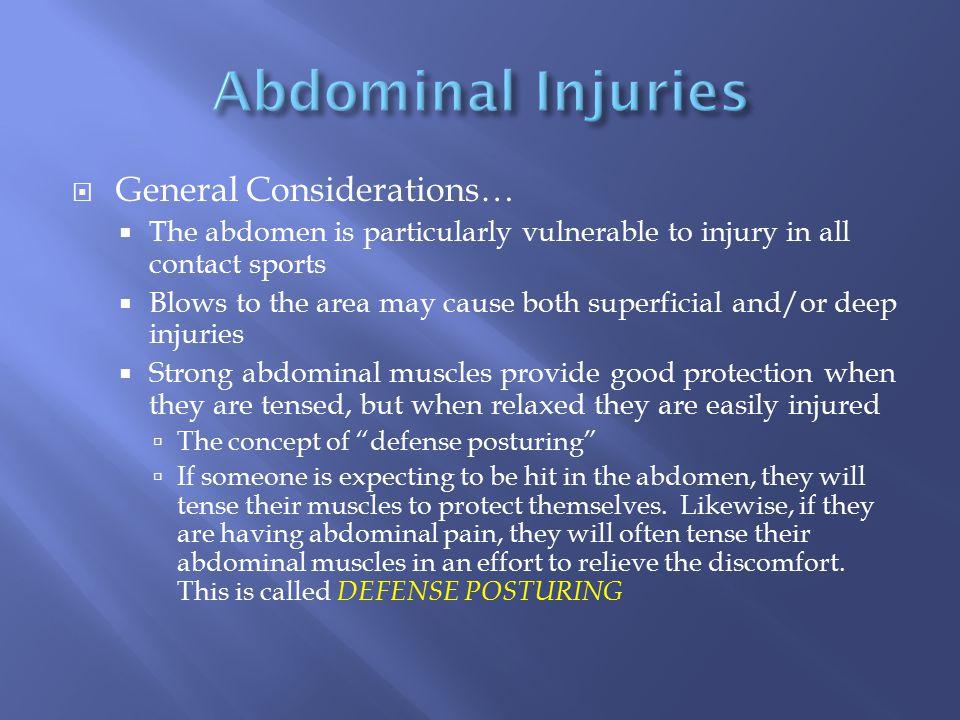 Abdominal Injuries General Considerations…