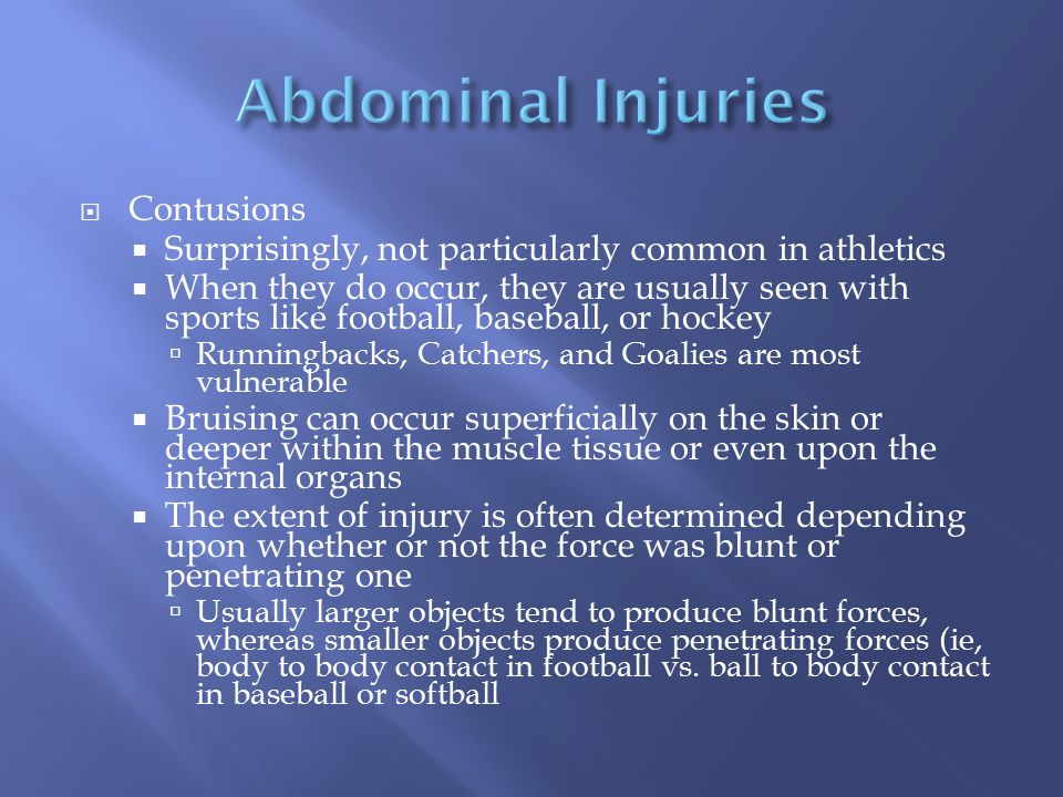 Abdominal Injuries Contusions