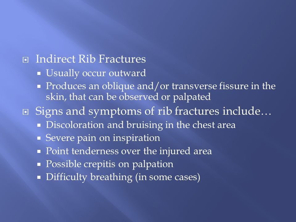 Indirect Rib Fractures