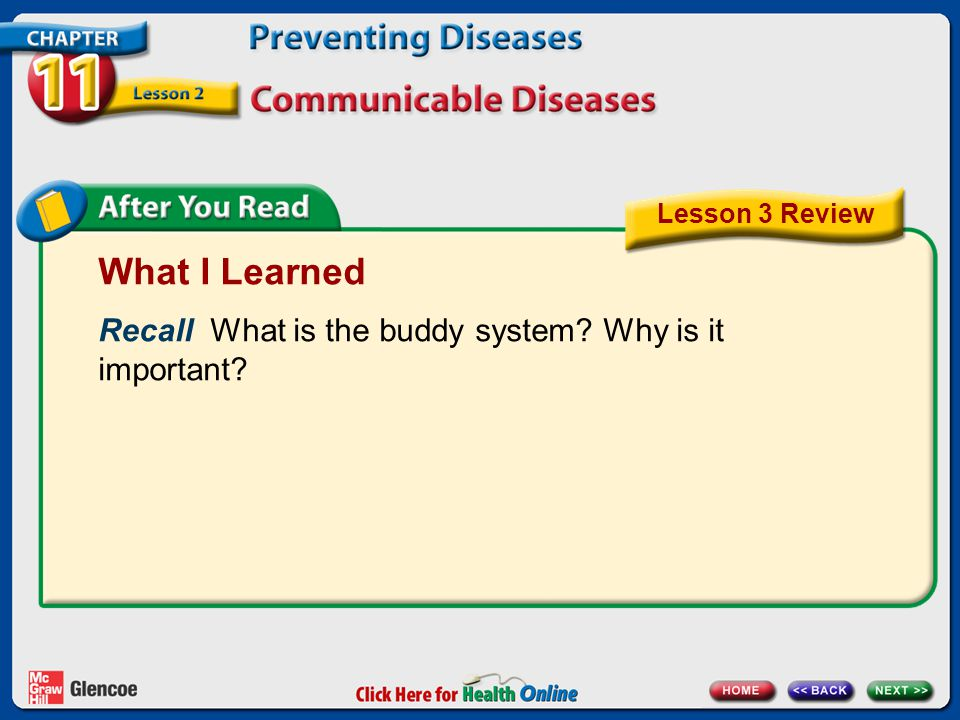 What I Learned Recall What is the buddy system Why is it important