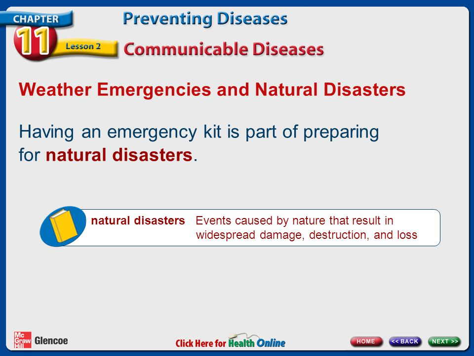 Weather Emergencies and Natural Disasters