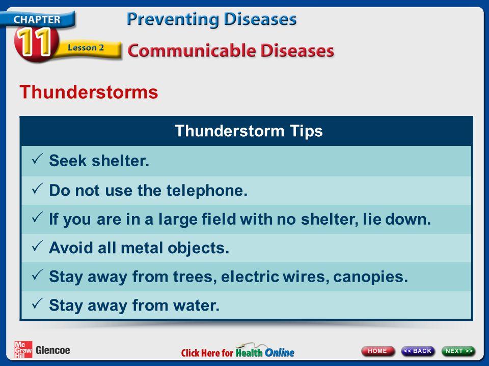 Thunderstorms Thunderstorm Tips Seek shelter.