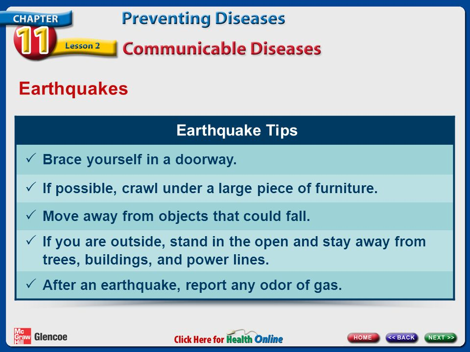 Earthquakes Earthquake Tips Brace yourself in a doorway.