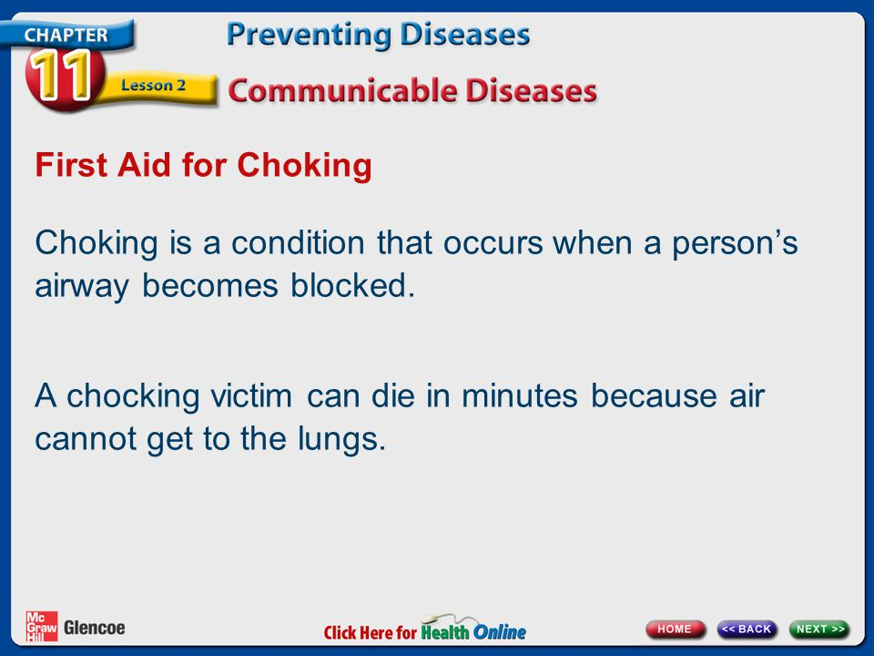 First Aid for Choking Choking is a condition that occurs when a person's airway becomes blocked.