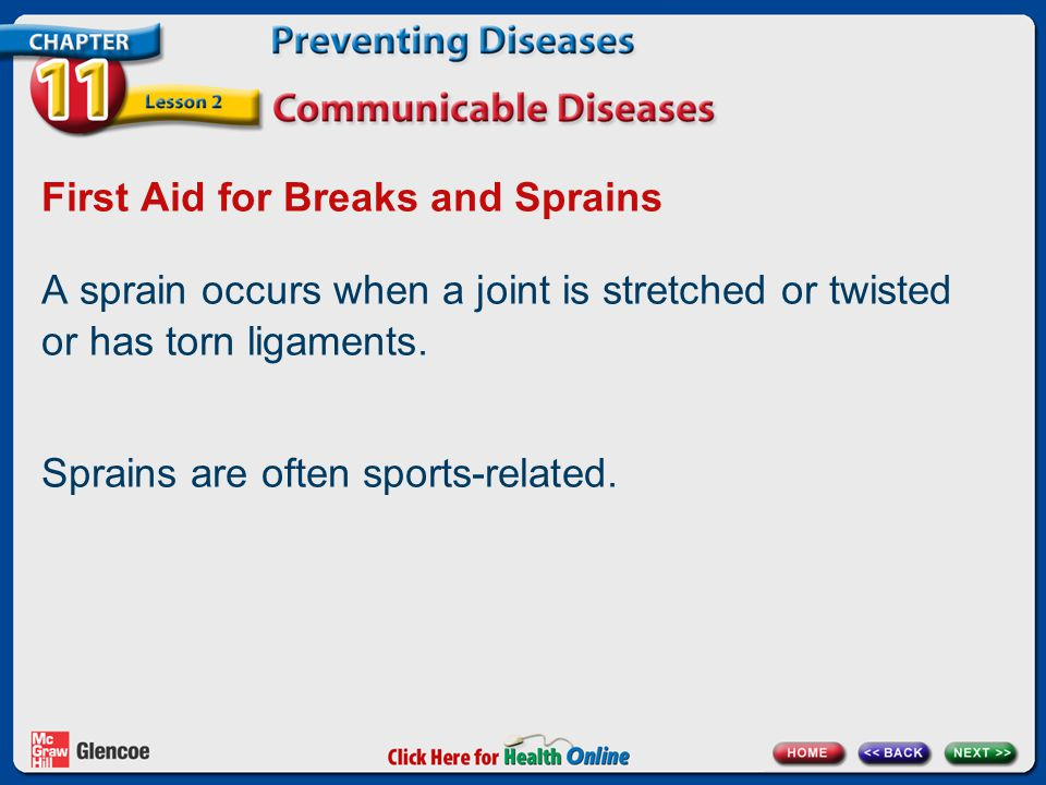 First Aid for Breaks and Sprains