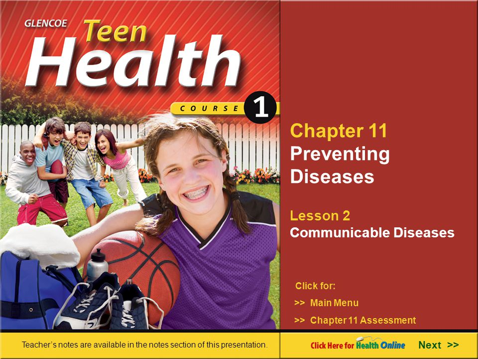 Chapter 11 Preventing Diseases Lesson 2 Communicable Diseases