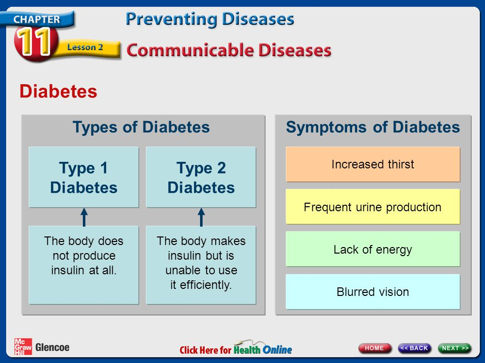 Diabetes Type 1 Diabetes Type 2 Diabetes Types of Diabetes
