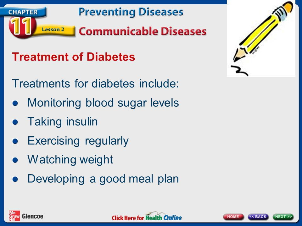 Treatments for diabetes include: Monitoring blood sugar levels