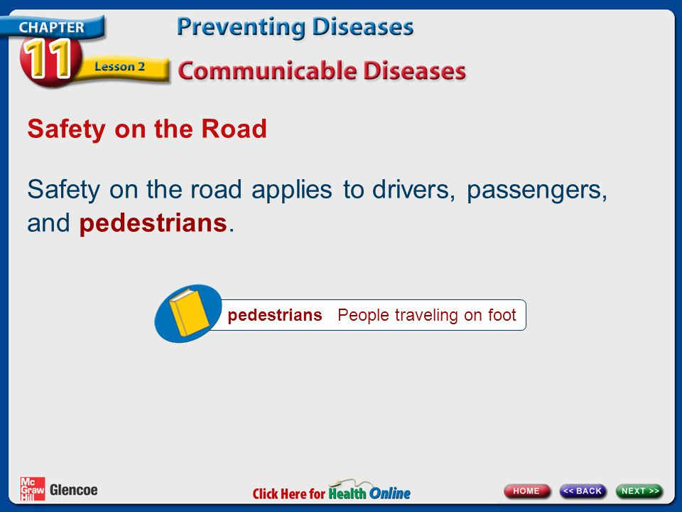 Safety on the road applies to drivers, passengers, and pedestrians.